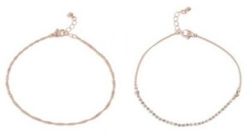 Dorothy Perkins Rose Gold Cupchain Anklet