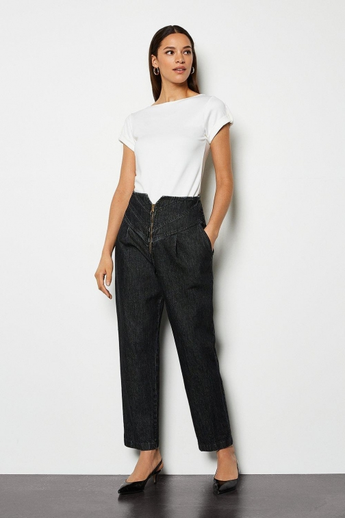 Karen Millen Washed Black, Black Jeans