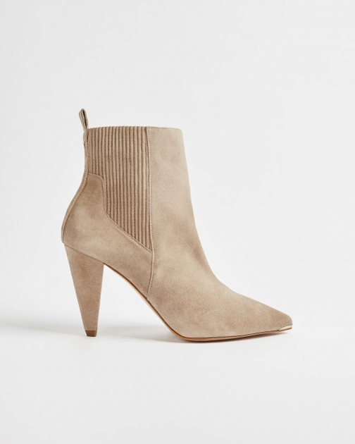 Ted Baker Suede Cone Heeled Ankle Boot