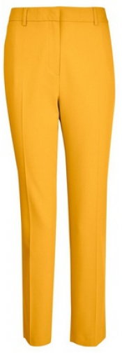 Dorothy Perkins Yellow Split Hem Ankle Grazer Trousers Trouser
