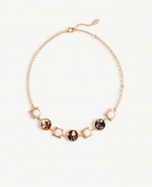 Ann Taylor Resin Statement Necklace