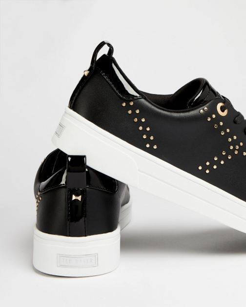 Ted Baker Leather Studded Trainer
