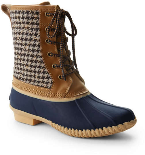 Lands' End Women's Sherpa Lined Duck - Lands' End - Brown - 6 Boot