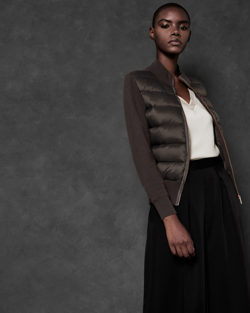 Ted Baker Puffer Front Knit Jacket