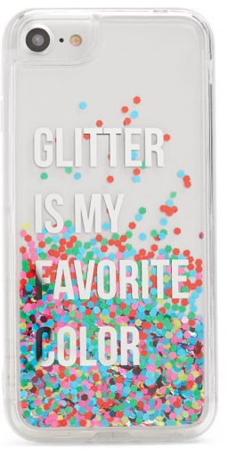 Forever21 Forever 21 Glitter Waterfall Phone For IPhone 6/7/8 Pink/multi Case