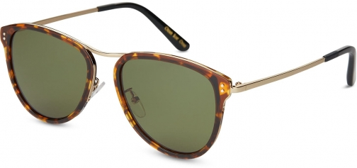 Toms Franco Whiskey Brown With Glass Bottle Green Lens Sunglasses