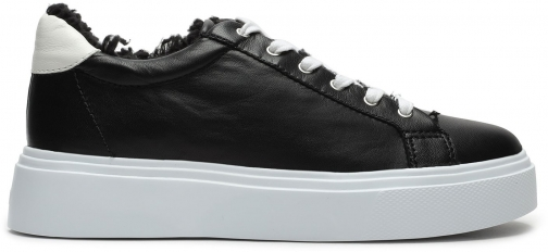Schutz Shoes Kristin Leather Sneaker - 5 Black Leather Trainer