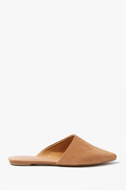 Forever21 Forever 21 Faux Suede Pointed Mules , Brown Shoes