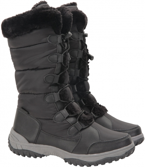 Mountain Warehouse Snowflake Womens Long - Black Snow Boot