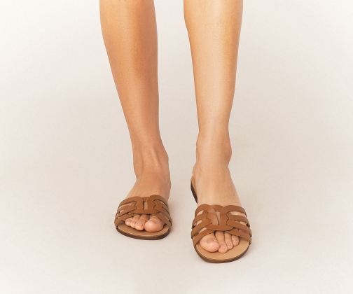 Oasis Leather Casual Slider