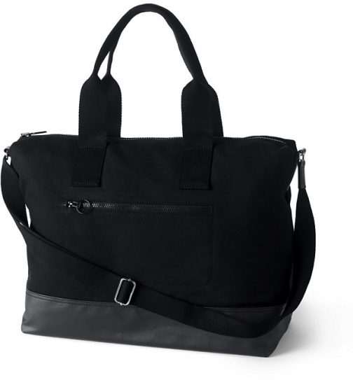 Lands' End Canvas Weekender - Lands' End - Black Duffle Bag