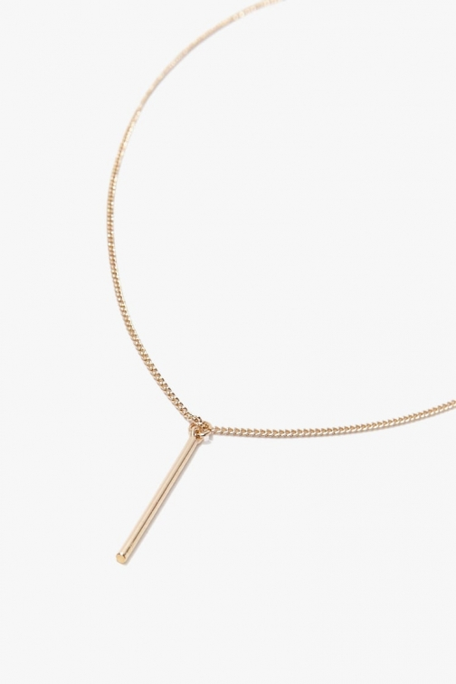 Forever21 Forever 21 Matchstick Pendant , Gold Necklace