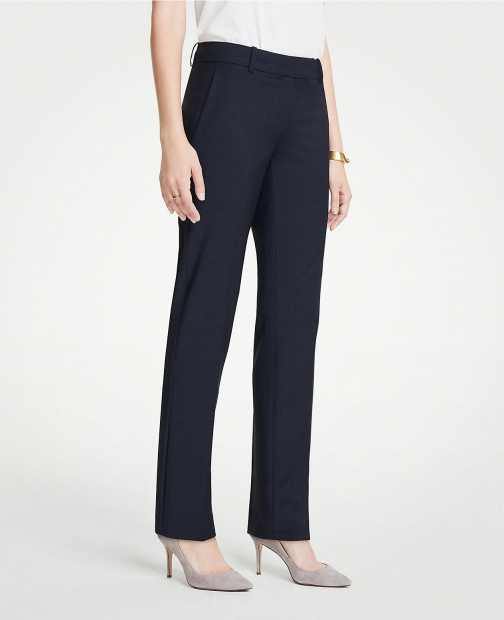 Ann Taylor The Petite Straight Pant Tropical Wool - Curvy Fit Suit
