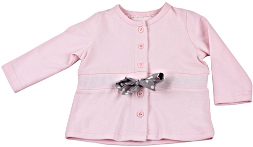 Minene Baby Girls Cotton With Tie Cardigan
