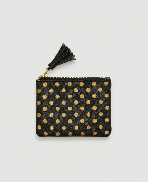 Ann Taylor Factory Dotted Tassel Zip Pouch