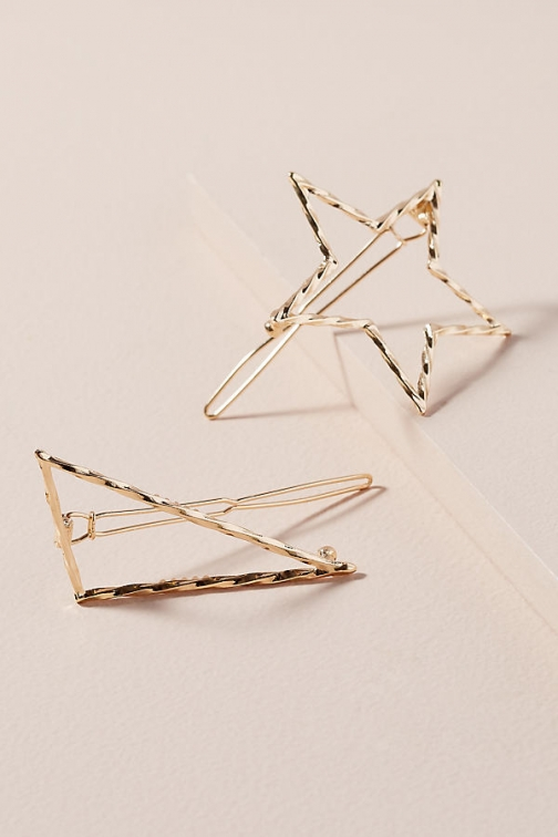 Anthropologie Pack Of 2 Star Hair Slides Slider