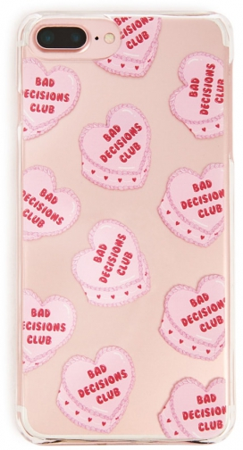 Forever21 Forever 21 Heart Graphic IPhone For 6/7/8 Plus , Pink/multi Case