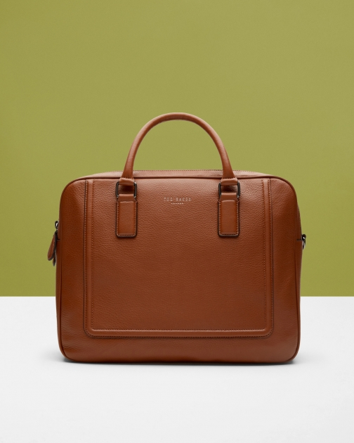 Ted Baker Leather Bowler Tan Bag