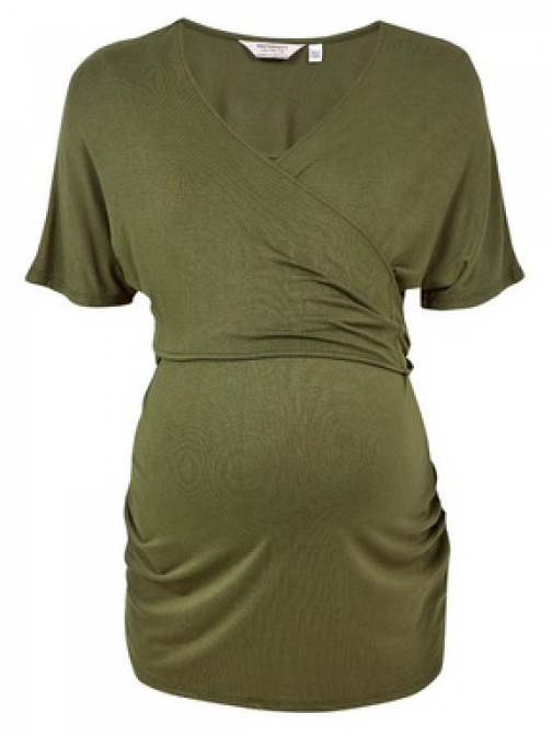 Dorothy Perkins Maternity Khaki Nursing Wrap Top