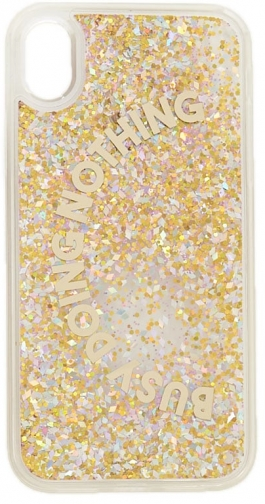 Forever21 Forever 21 Busy Doing Nothing Graphic Waterfall Phone For IPhone XR , Gold Case