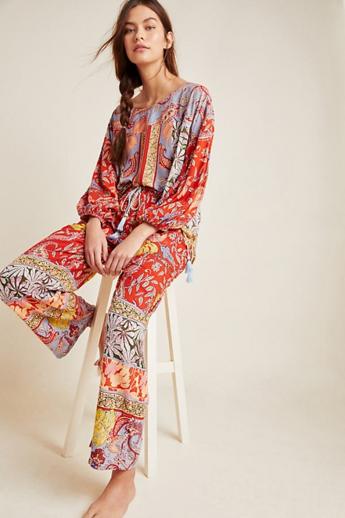 Anthropologie Sonrisa Paisley Trousers Trouser