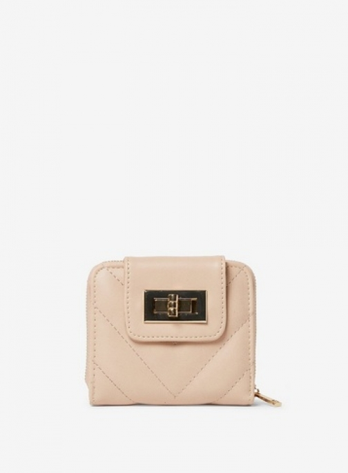 Dorothy Perkins Nude Quilted Twist Lock Purse