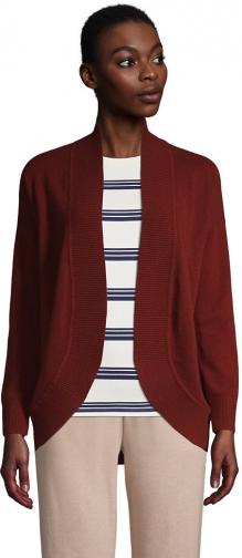 Lands' End Women's Cashmere Cocoon Sweater - Lands' End - Red - XS Cardigan