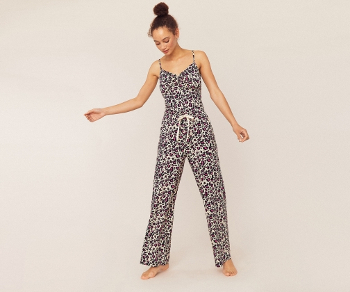 Oasis Leopard Print Trousers Trouser