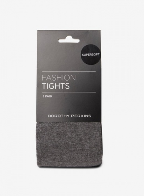 Dorothy Perkins Womens Grey 1 Pack Super Soft - Grey, Grey Tight