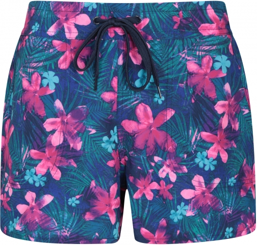 Mountain Warehouse Patterned Womens Stretch Boardshorts - - Teal Short