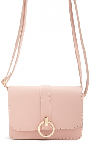 Forever21 Forever 21 Faux Leather Blush Shoulder Bag
