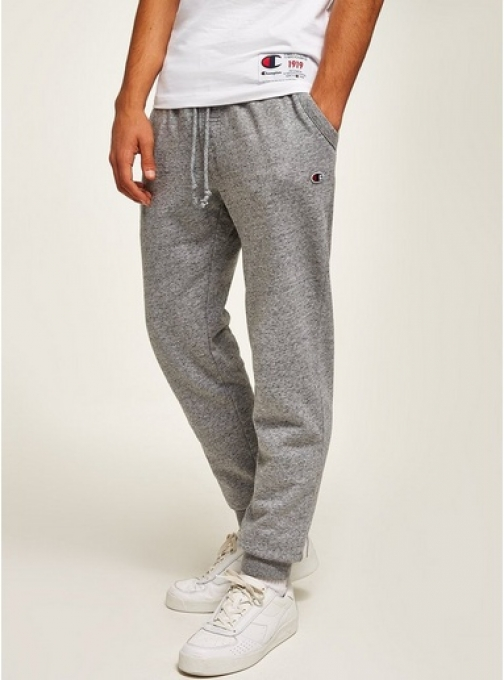 Topman Mens CHAMPION Grey Logo Joggers, Grey Athletic Pant