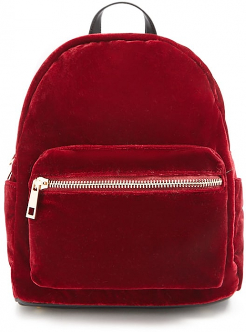 Forever21 Forever 21 Velvet Mini Burgundy Backpack