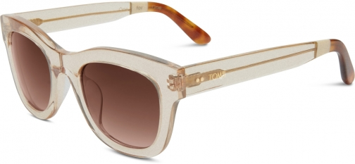 Toms Chelsea Matte Champagne With Brown Gradient Lens Sunglasses