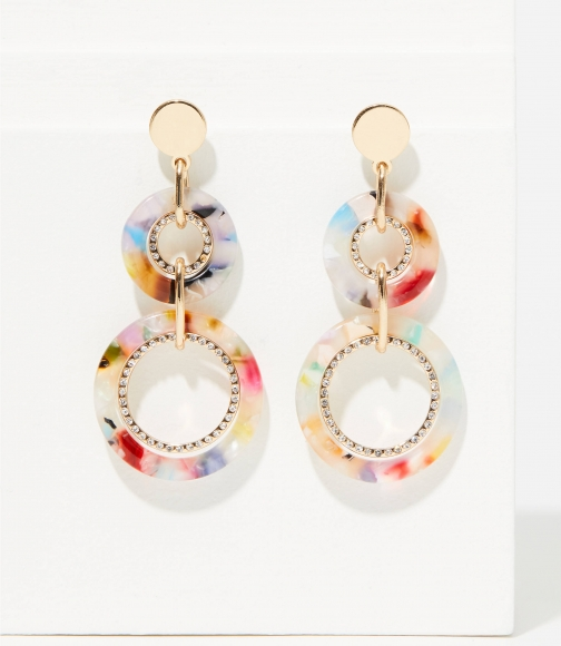 Loft Pave Linked Resin Drop Earring
