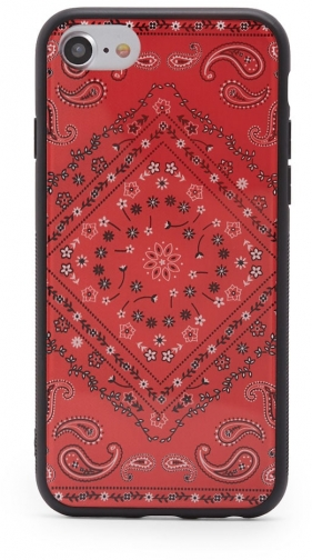 Forever21 Forever 21 Bandana Print Phone For IPhone 6/7/8 , Red/white Case