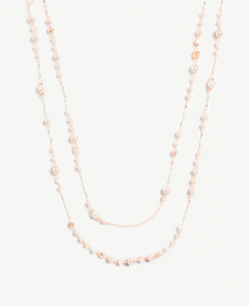 Ann Taylor Pearlized Tiered Necklace