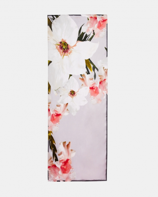 Ted Baker Chatsworth Bloom Long Silk Scarf