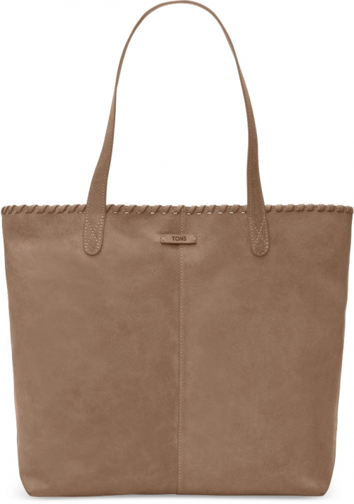 Toms Light Orange Distress Leather Cosmopolitan Tote Bag
