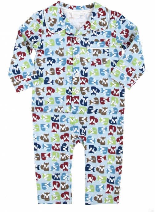 House Of Fraser Mini Vanilla Baby Boys Mock Jersey Pyjama