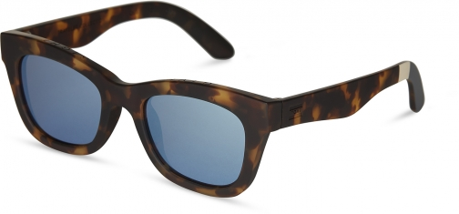 Toms Traveler By TOMS Paloma Matte Blonde Brown With Deep Blue Mirror Lens Sunglasses