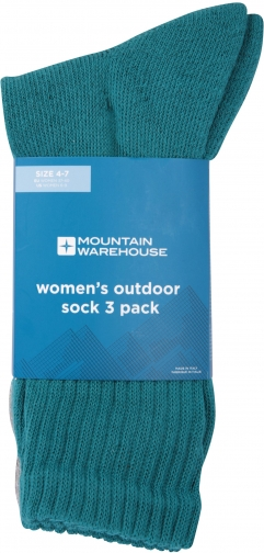 Mountain Warehouse Outdoor - 3 Pack - Green Sock