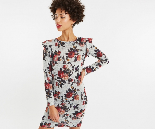Oasis Floral Ruffle Detail Dress