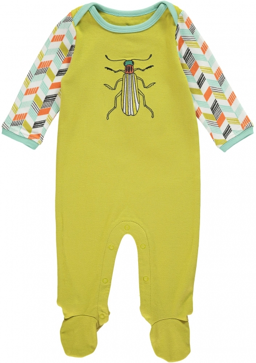 House Of Fraser Rockin' Baby Boys Green Bug Onesie