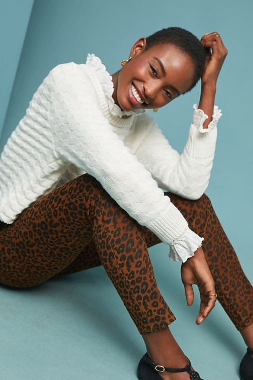 Anthropologie Leopard Affair - Assorted, Size Skinny Trouser