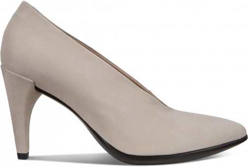Ecco Shape 75 Pointy Womens Shoes Size 5 Grey Rose Pumps