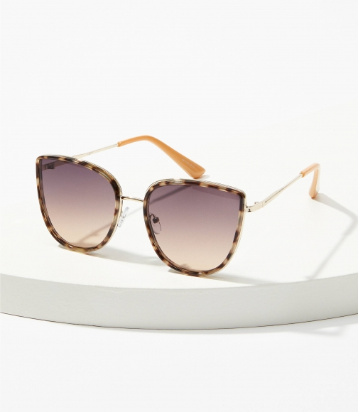 Loft Metallic Cateye Sunglasses