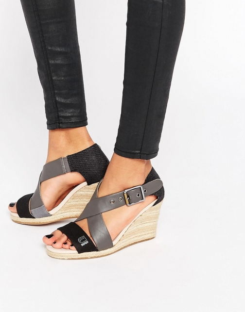 G-star Aria Cross Strap Wedge Sandal