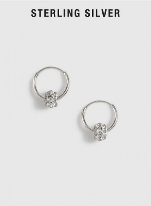 Dorothy Perkins Silver Cubic Zirconia Ball Hoops Jewellery