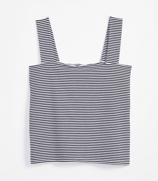 Loft Petite Striped Fitted Square Neck Outfit-Making Tank Tank Top